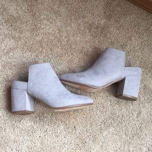 Express size 6 heeled mules booties. Like new.